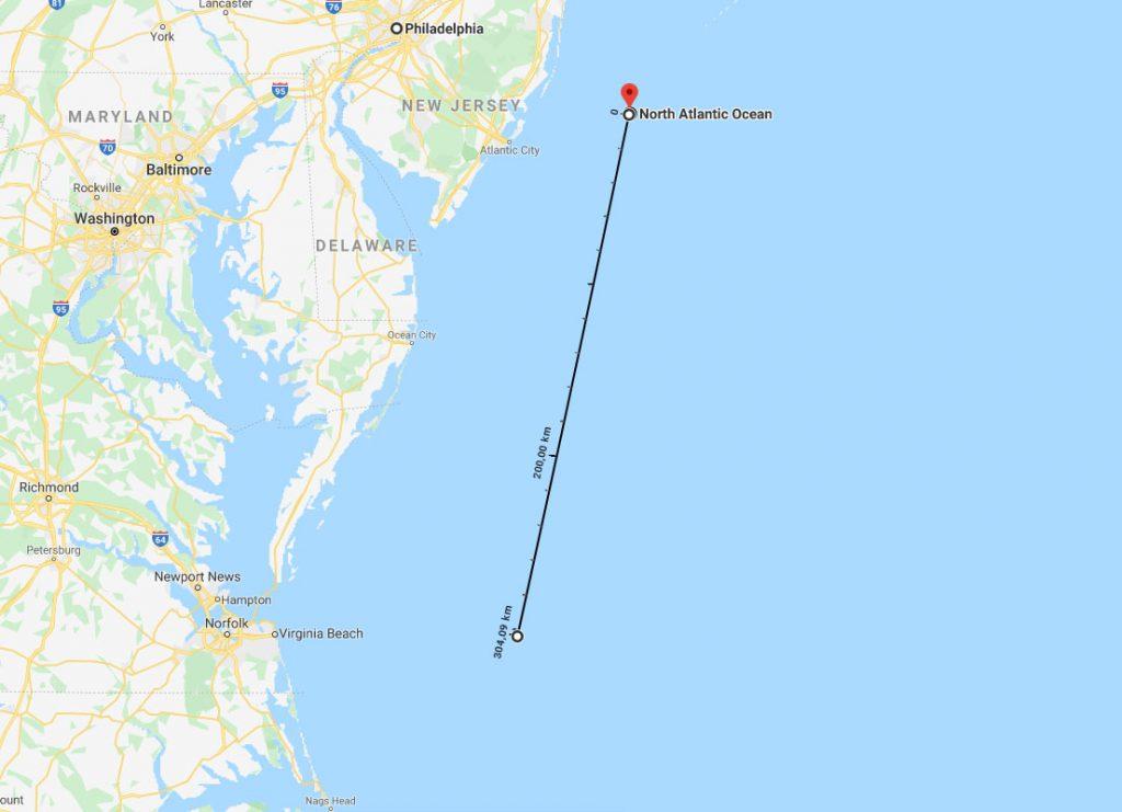 Philadelphia - Norfolk távolság